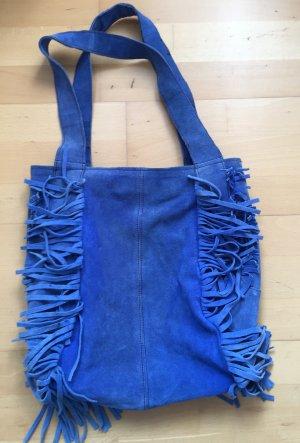 Vintage Fransen Tasche Leder Tote Bag Hippie Style Ibiza