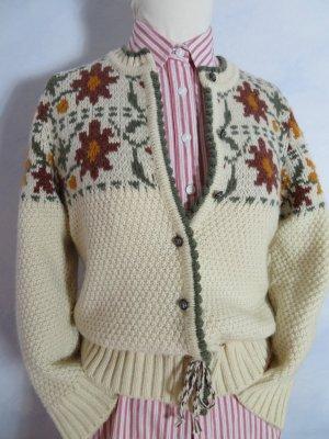 Vintage Cardigan norvégien multicolore laine