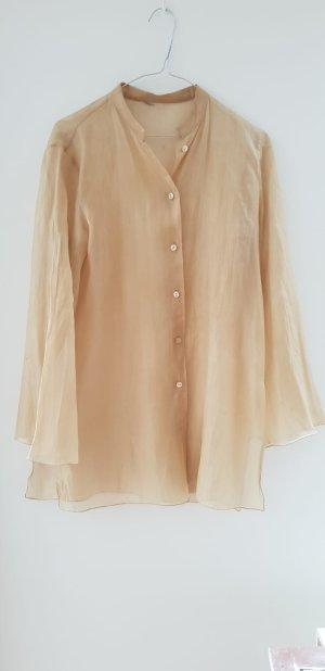 Vintage Goldene Seidenkrep-Bluse