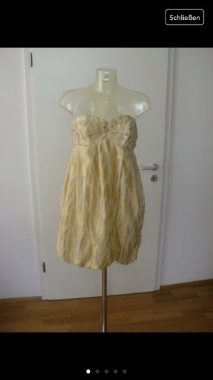 vintage goldenes, weisses Kleid, so miu miu