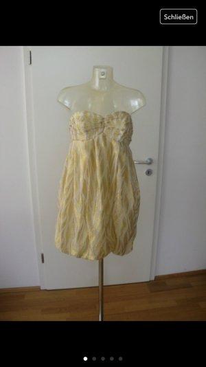 vintage goldenes, weisses Kleid, so miu miu