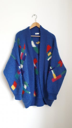 Vintage Coarse Knitted Jacket multicolored