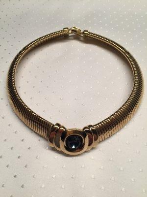 Collar estilo collier color oro-azul acero metal