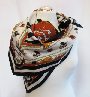 Vintage Foulard multicolore polyester