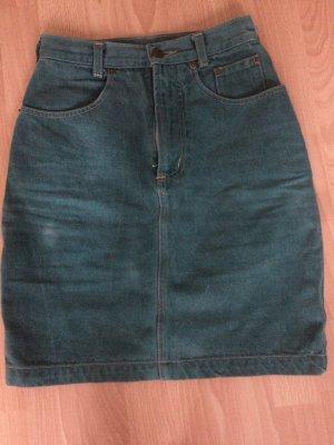 Vintage grünes Jeans Rock