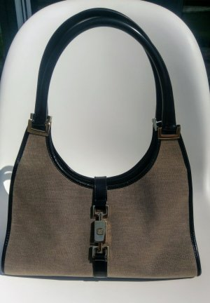 Vintage GUCCI Jacky Shoulder Bag, grau/schwarz