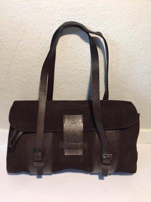 Vintage Gucci Leder-Handtasche braun