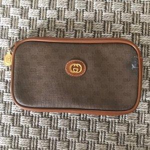 Vintage Gucci Tasche Etui Geldbörse Geldbeutel Portemonnaie Tasche Clutch braun