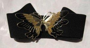 vintage Gürtel 80/90er mit Schmetterling - klammer , Gummi