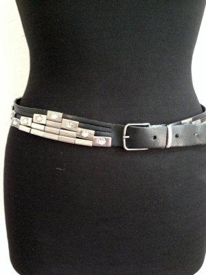 Vintage Gürtel aus echtem Leder, bei Gr. 40/42 als Taillengürtel tragbar