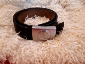 no name Belt silver-colored-dark brown