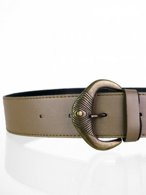 Faux Leather Belt grey brown-bronze-colored imitation leather