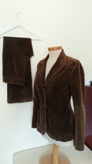 Vintage H&M Samt Hosenanzug top erhalten Gr. 38 marone