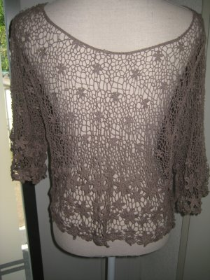 Crochet Shirt beige cotton