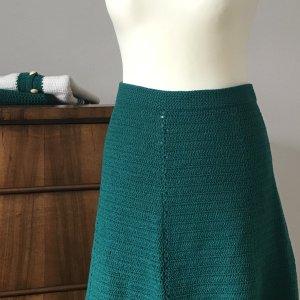 Wool Skirt petrol-cadet blue