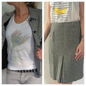 VINTAGE +++ Hahnentritt PREMIUM Kostüm SAVANNAH Jacke & Bleistiftrock Blazer Anzug