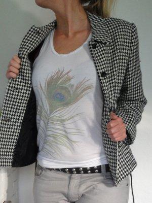 ++ VINTAGE +++ Hahnentritt PREMIUM Kostüm SAVANNAH Jacke & Bleistiftrock Blazer Anzug