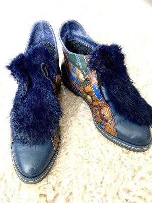 American Vintage Zapatos brogue azul-azul oscuro