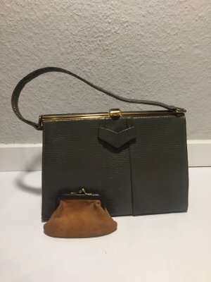 Handbag grey leather