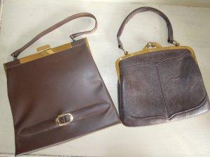 Vintage Handtasche Messingbügel Braun 50/60er Jahre Taschen