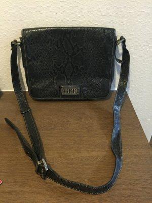 Vintage-Handtasche Schlangenprägung