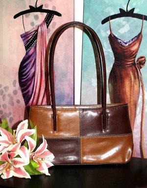 Vintage Handtasche Tasche Braun Cognac