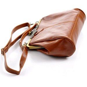 vintage Handtasche Umhängetasche braun