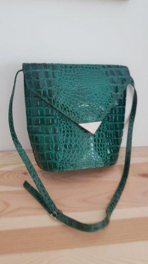 Vintage Handtasche Umhängetasche Schlangenleder grün apc asos urban