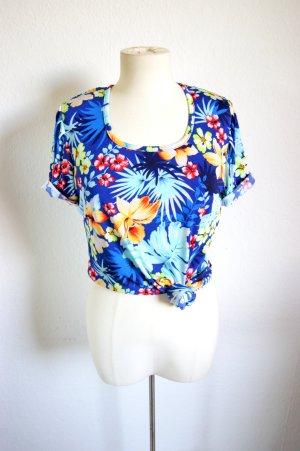 Vintage Hawaii Shirt, bunt florales T-Shirt 70er, Florida grunge