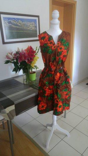 Vintage Hawaii Tiki Kleid A-linie floral 40s
