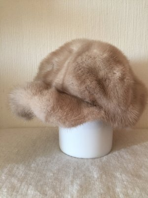 Vintage Fur Hat cream-oatmeal fur