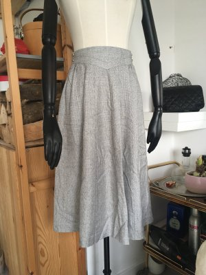 beclaimed vintage High Waist Skirt silver-colored-light grey