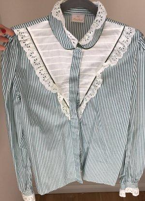 Zakelijk overhemd grijs-groen-wit
