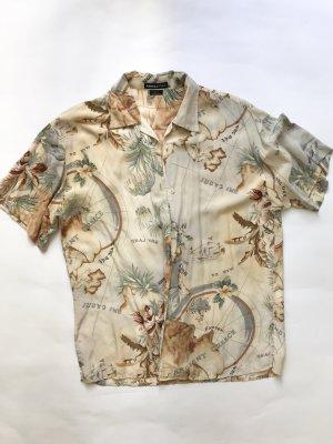 Camisa de manga corta multicolor Seda