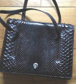 Carry Bag dark brown-black brown leather