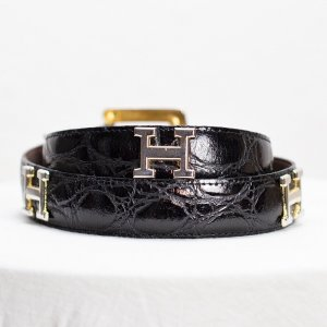 Hermès Cintura vita nero