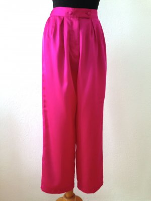 Vintage High Waist Hose aus pinkem Satin, Gr. 40/42