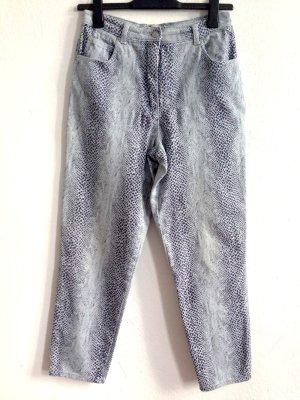 Vintage High Waist Jeans im Karottenschnitt, Snakeprint, Gr. 40