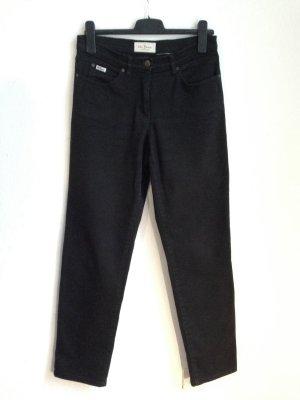Vintage High Waist Jeans in schwarz, Gr. 40
