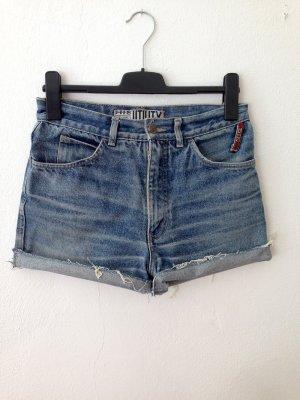 Vintage High Waist Jeans Shorts von H.I.S, Gr. 38/40