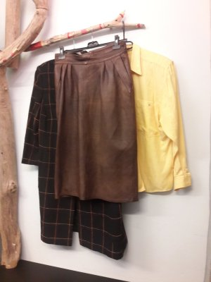 Leather Skirt multicolored leather