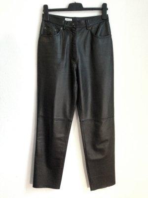 Vintage High Waist Lederhose (echtes Leder), schmal geschnitten, Gr. 38/40