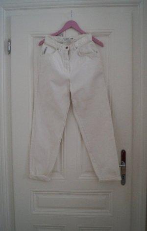 Vintage High-Waist Mom Jeans weiß Gr. 36/38