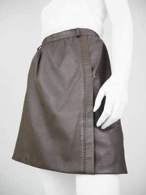 Leather Skirt grey brown imitation leather