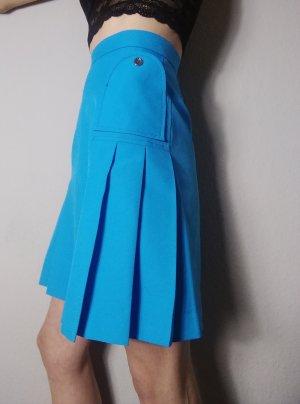 Vintage Falda de talle alto azul claro