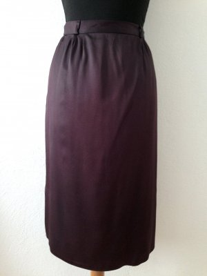 Vintage High Waist Rock in Midi Länge, Gr. 34