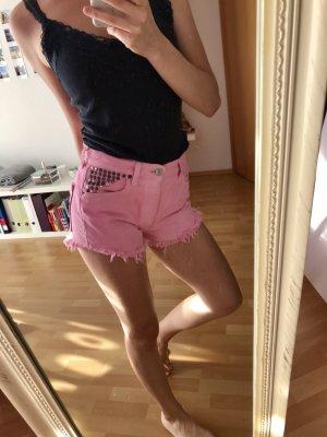 Vintage high waisted shorts pink Nieten levi's