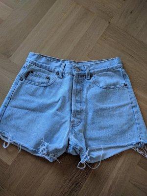 Rocky Denim Shorts azure-baby blue cotton