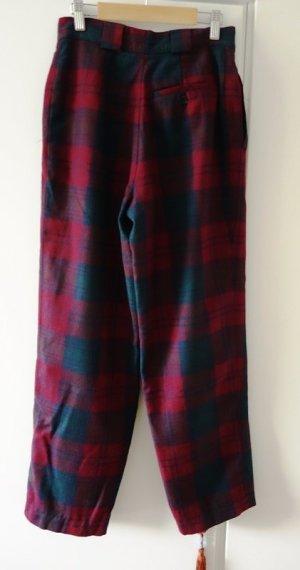 Hoge taille broek bordeaux-donkerblauw