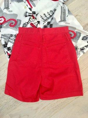 Vintage highwaist Roter Short aus Denim